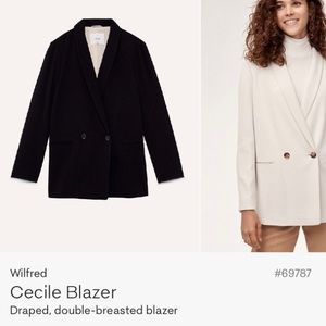 Aritzia Wilfred Cecile Double-Breasted Blazer Sz S
